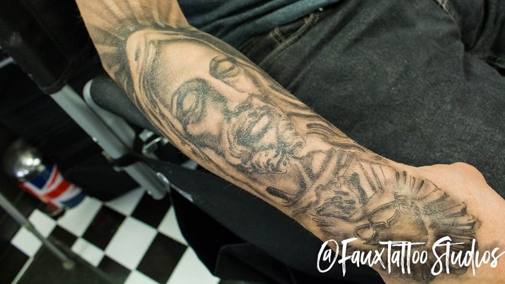 Tat Bar - Jesus Half Sleeve