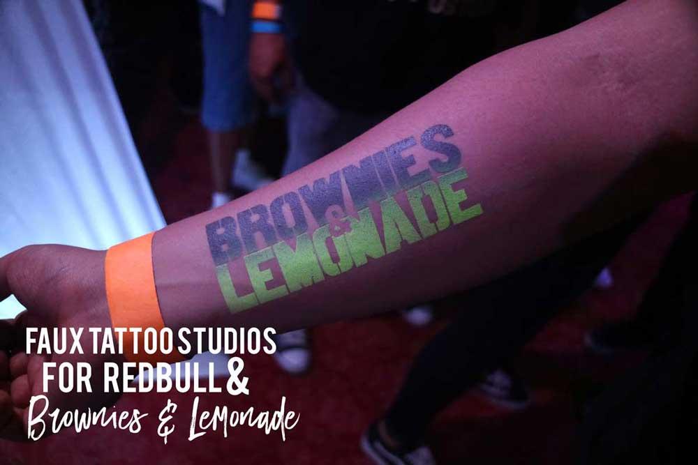 Red Rull Brownies & Lemonade